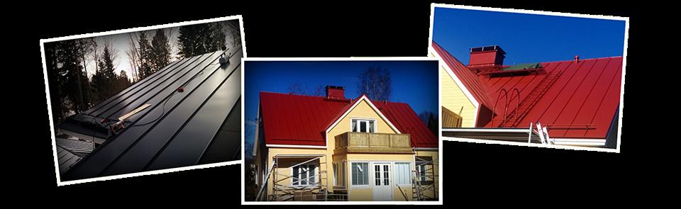 Kaikenlaiset kattojen ja julkisivujen peltityöt